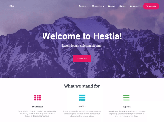Hestia free WordPress theme