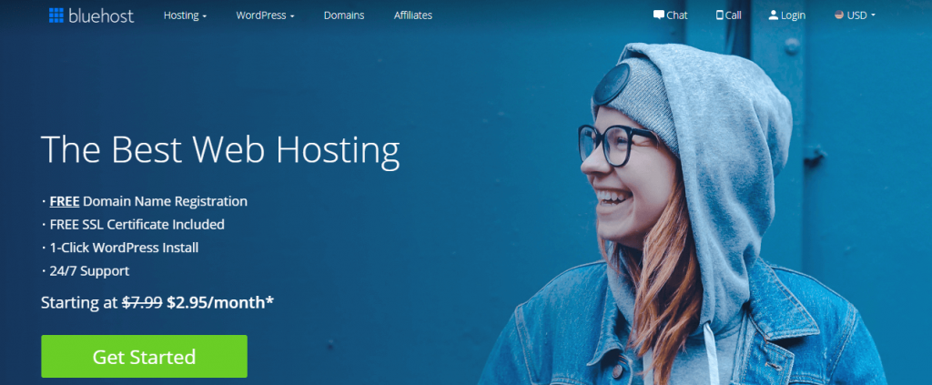 Best shared hosting for WordPress- Blue Host