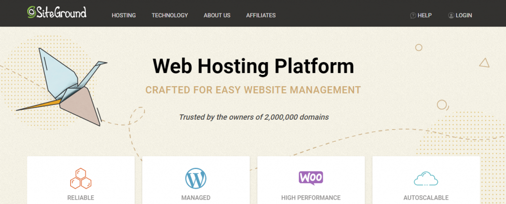 Best shared hosting- Site Ground