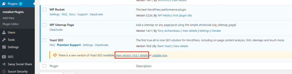 WordPress Update is Available