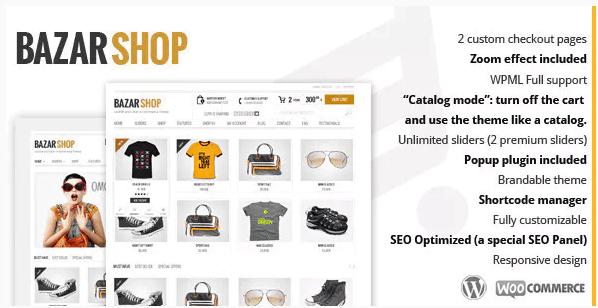 Bazar Shop - Best WordPress Theme For E-Commerce