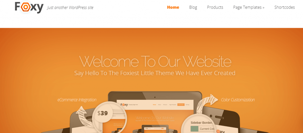 Foxy Theme by Elegant Themes - Best WordPress Theme for E-Commerce.