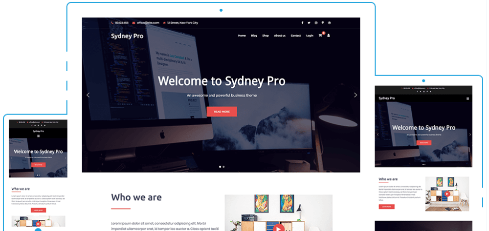 Sydney Pro - Best WordPress Theme For Business