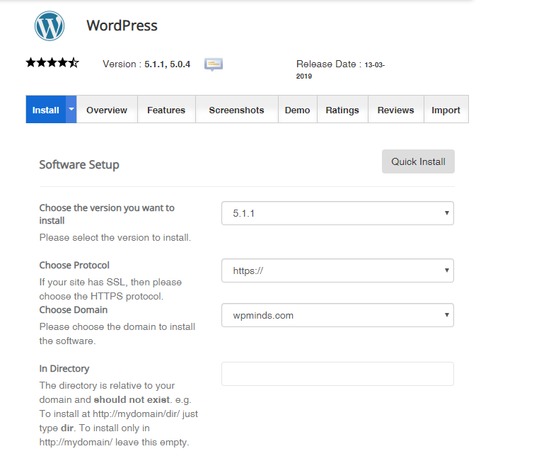 Configure WordPress with your website.