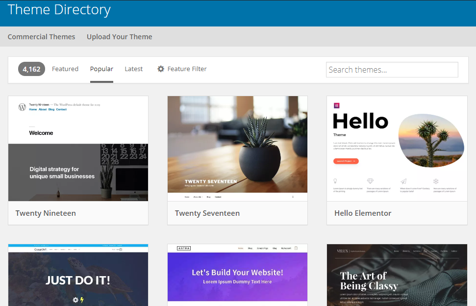WP Theme Directory