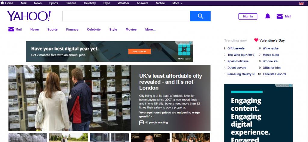 Yahoo-home-page