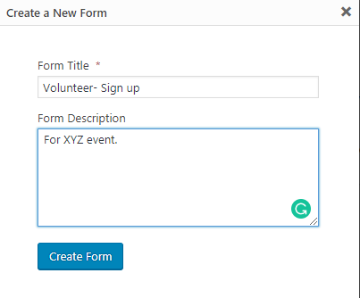 Add new forms with gravity form plugin.