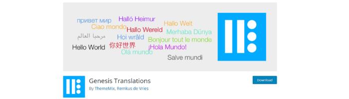 Genesis translation Plugin