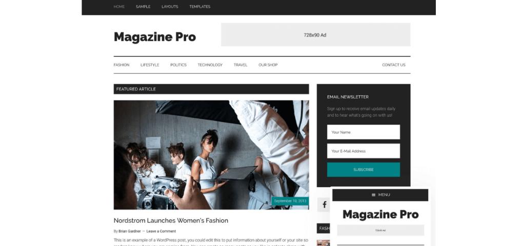 Child theme Magazine Pro