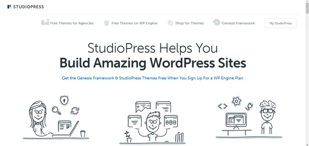 Built amazing WordPress websites with StudioPress