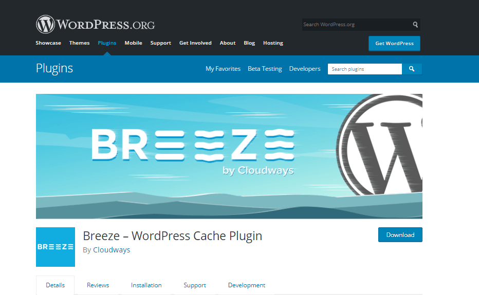Breeze caching plugin