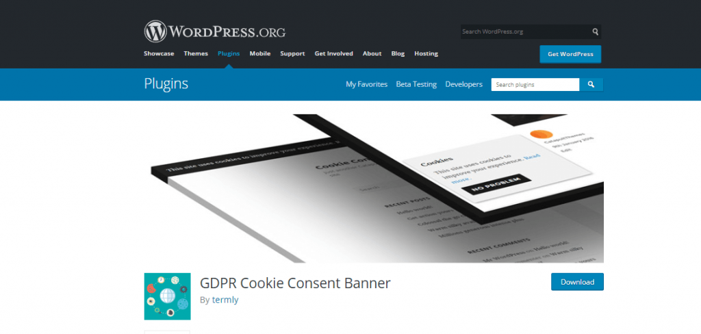 Cookie consent banner plugin