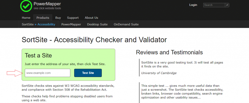 sortsite- website accessibility evaluation tool