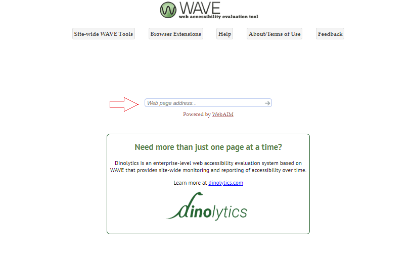 wave- website accessibilty evaluation tool