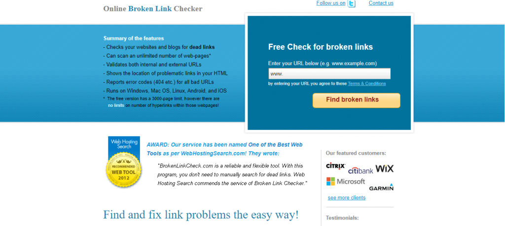 free broken link checker