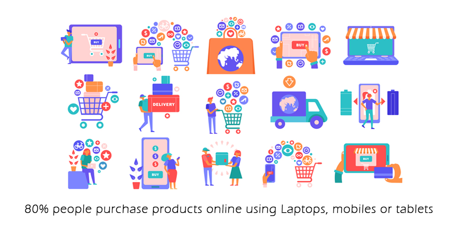 80% people buy products online.