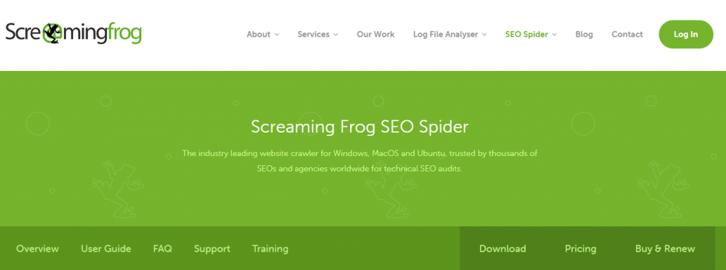 Screaming Frog tool