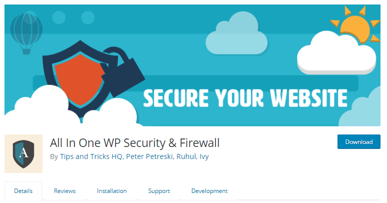 All in One WP Security & Firewall- WordPress security plugins