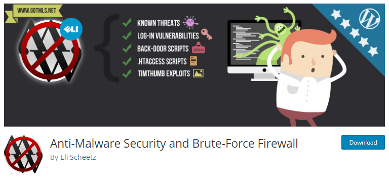 Anti-MAlware security and Brute Force Firewall -WordPress security plugins