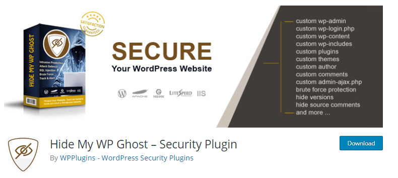 Hide My WP Ghost - WordPress security plugins