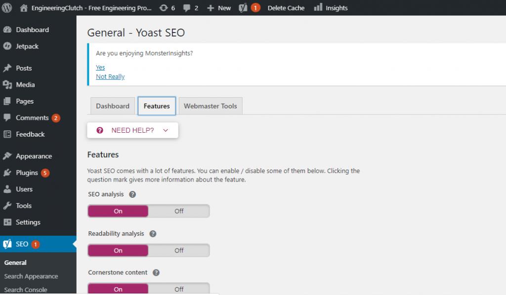 XML sitemap feature in Yoast