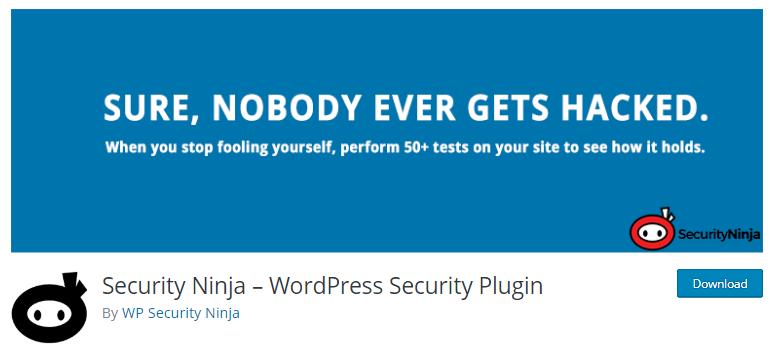 Security  Ninja - WordPress security plugins