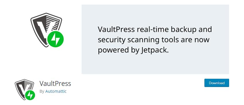 Vaultpress- WordPress security plugins