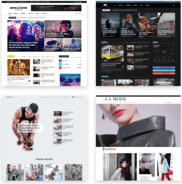 Newspaper theme buildin  Website Demos