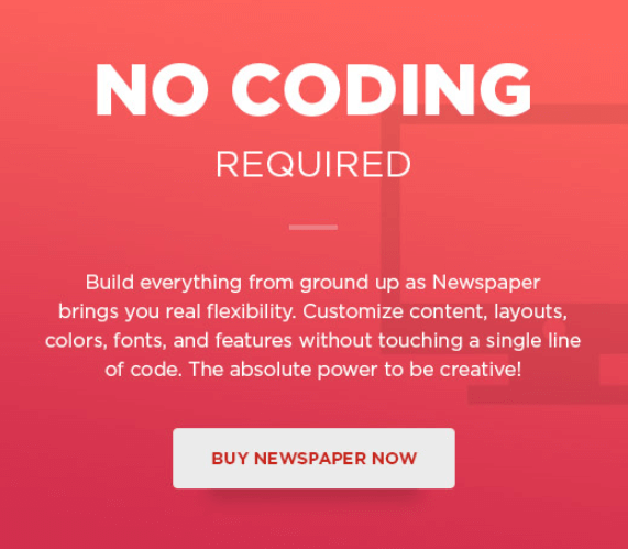 newppaper theme custom- no code page builder