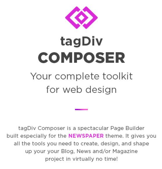 tagdiv composer toolkit for web design