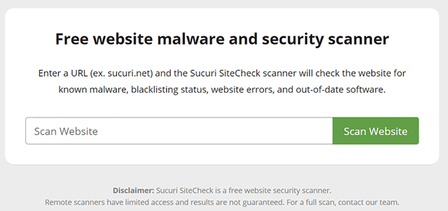 malware and security scanner