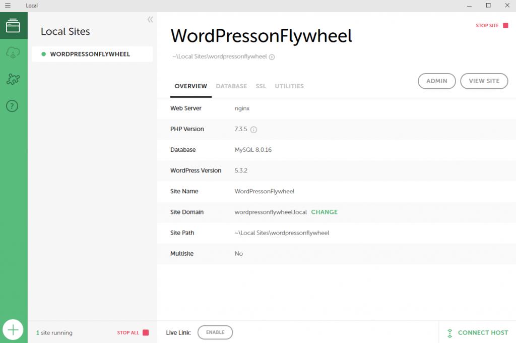 create website with flywheel step 5