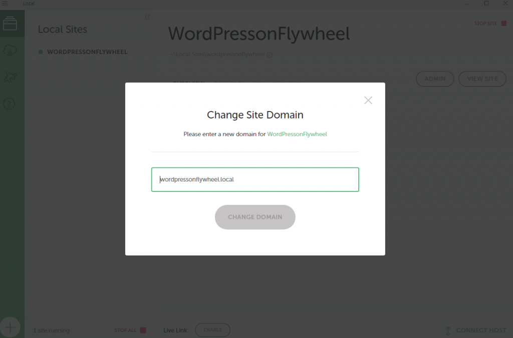 create website with flywheel step 6