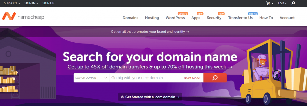 transfer domain to name cheap