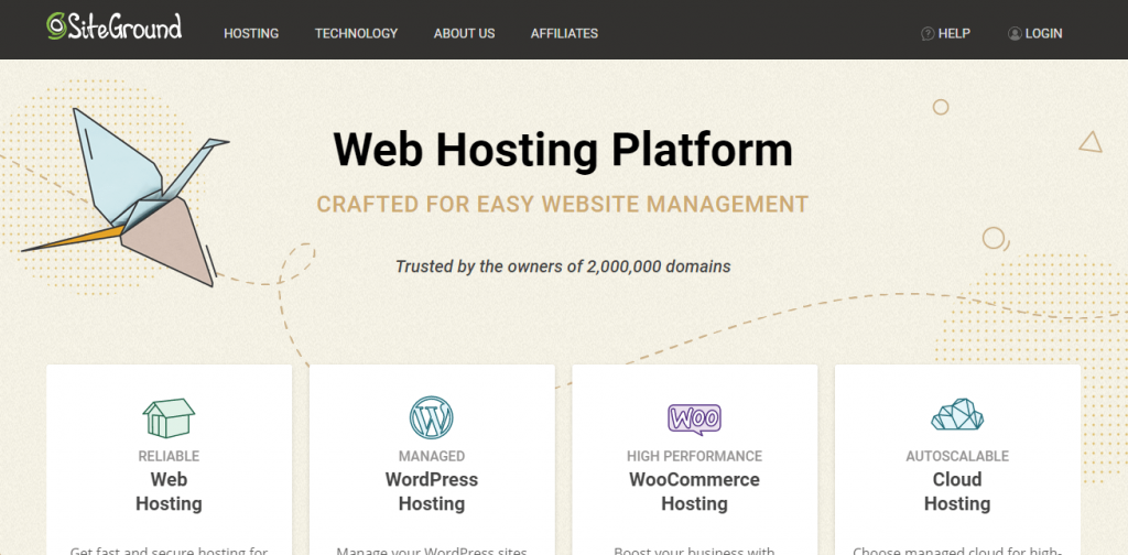 Siteground - Recommended hosting for WordPress speed optimization