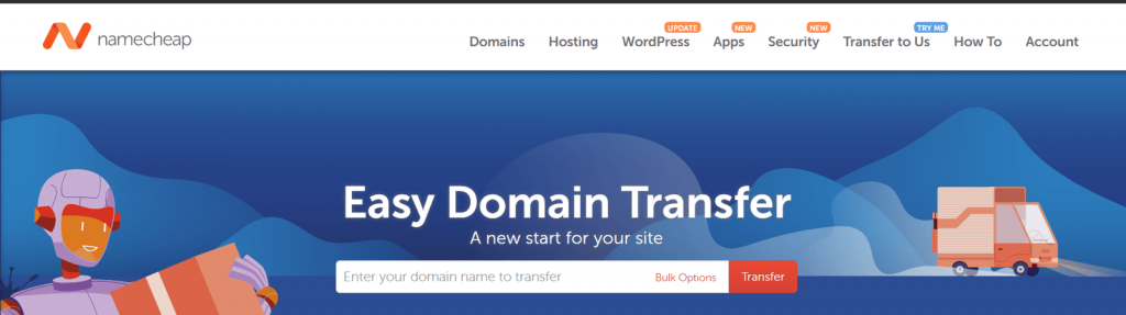 transfer domain with namecheap