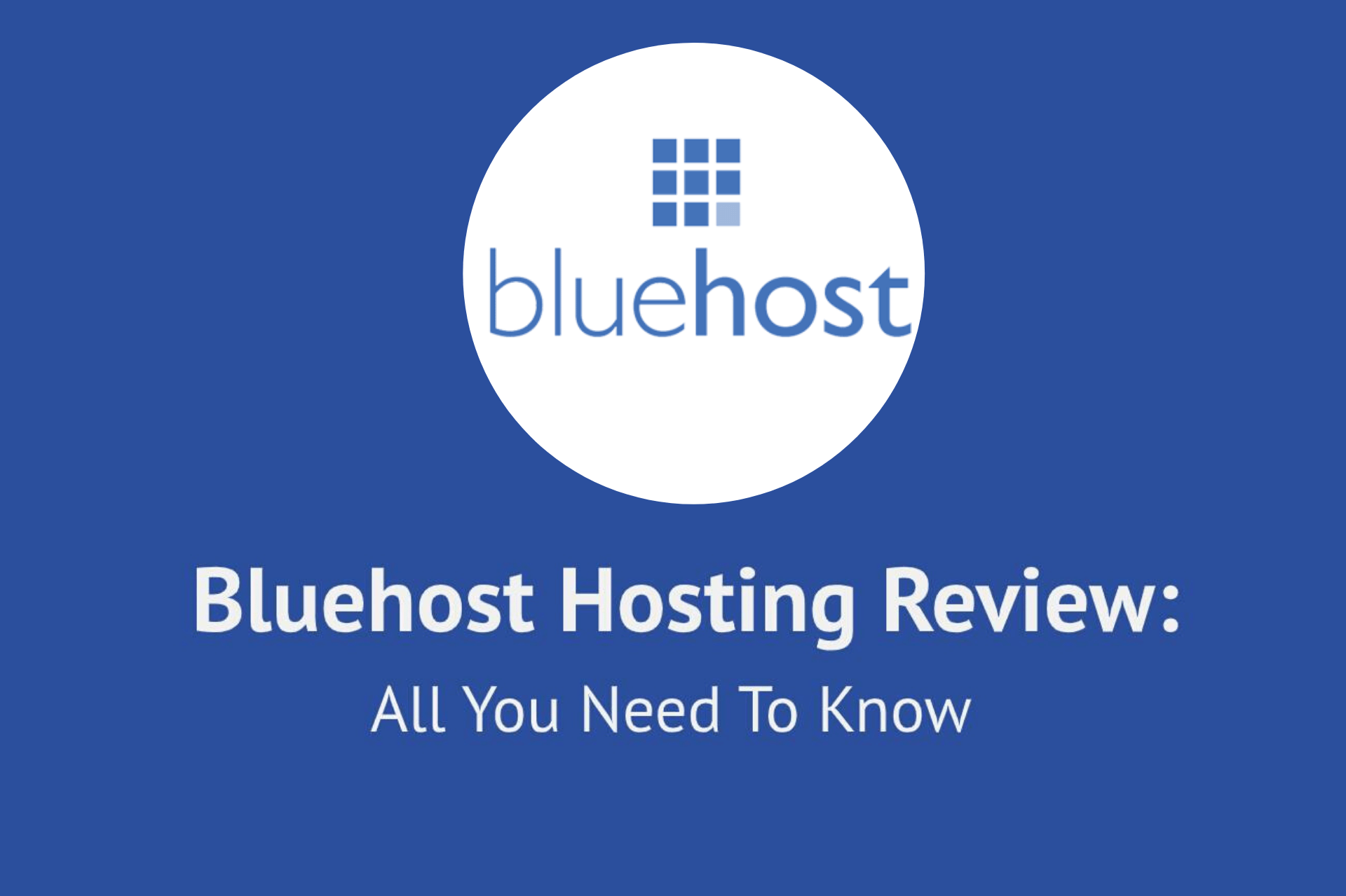 Blue host hosting - cover