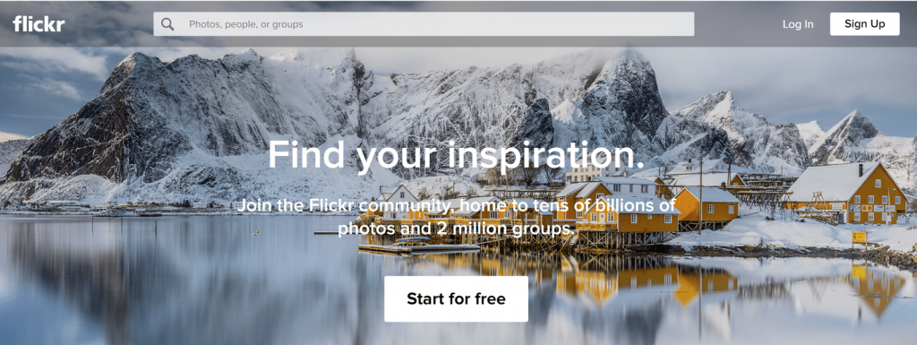 find optimized images for WordPress on flickr