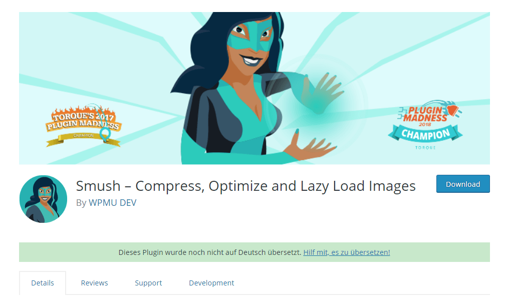 WP Smush image optimizer plugin
