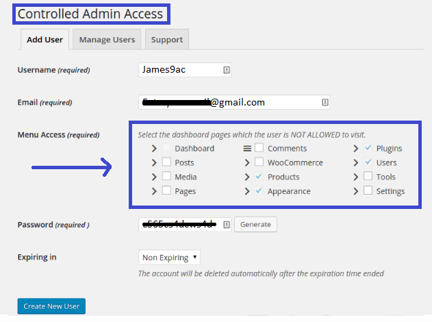 Install the Controlled Admin Access plugin