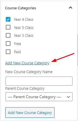 how to assign/create a new category to your online course