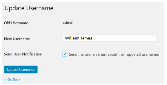 step 3 - WordPress security checklist- update usernames in WP