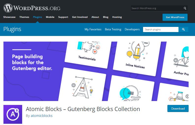 Atomic Blocks -Gutenberg block collection