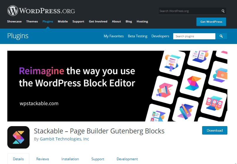 Stackable plugin