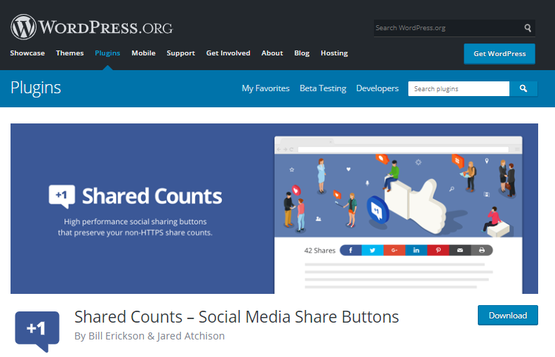 Shared counts plugins