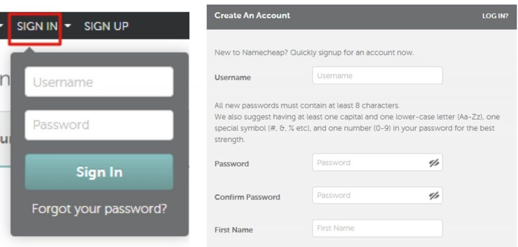 Register a domain name with NameCheap step 5