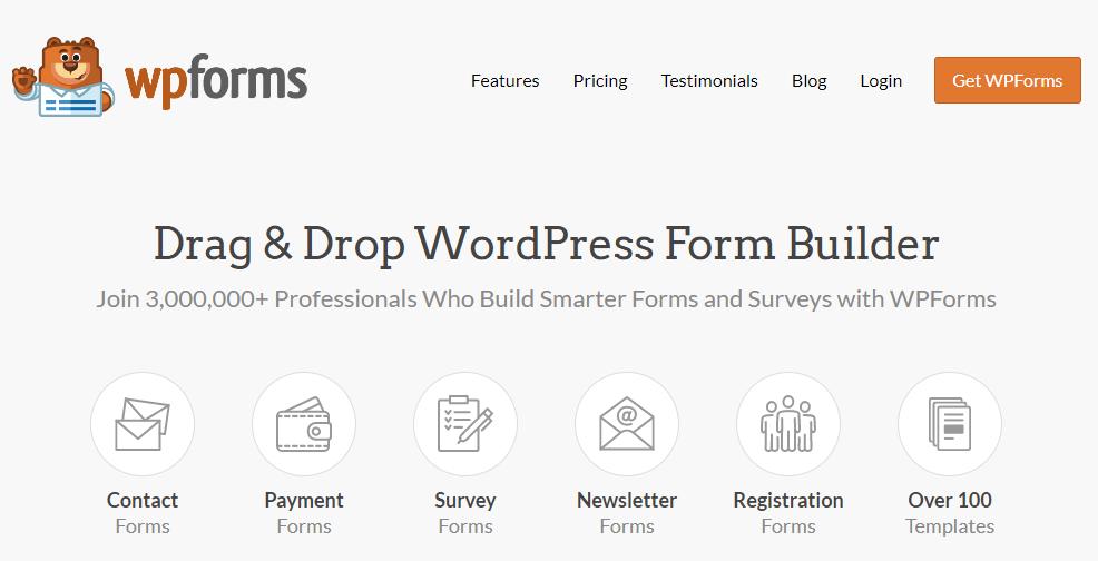 WPForms plugin to build forms