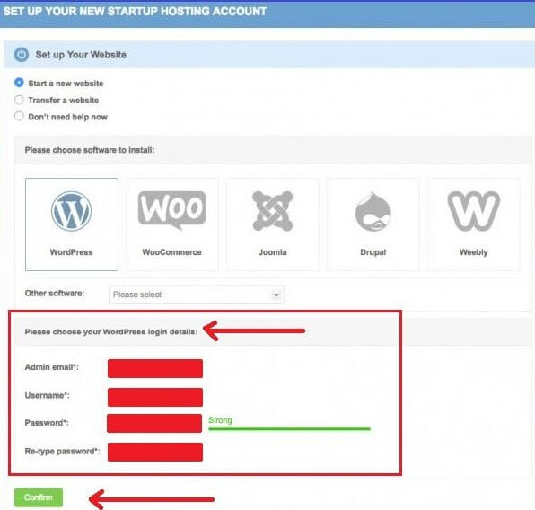 Create User ID for your new WordPress Website