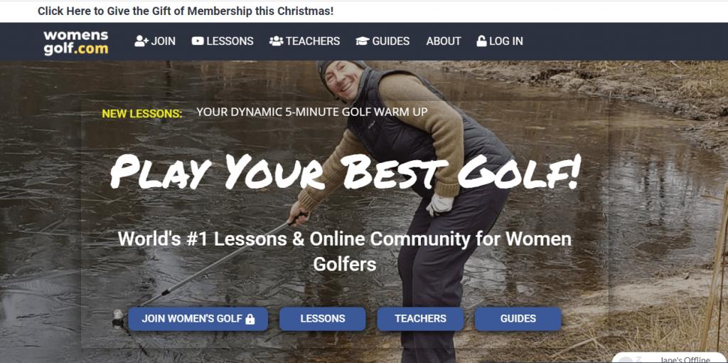 Newspaper theme: Womens golf website