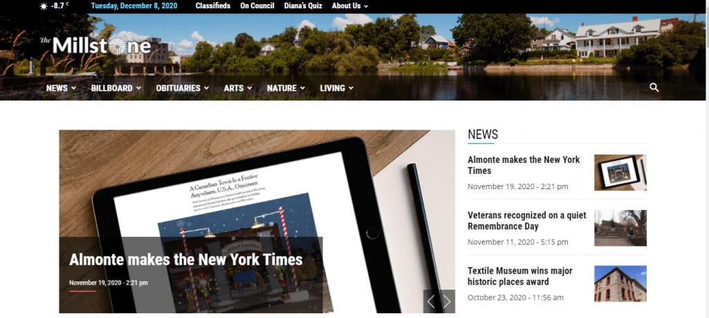 Newspaper theme: Milestone News webiste